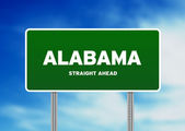 Alabama Green Highway Sign — Stock Photo