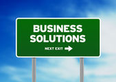 Business Solutions Highway Sign — Stock Photo