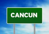 Cartello autostrada Cancun — Foto Stock