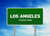 Los Angeles Highway Sign — Stock Photo