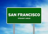 San Francisco Highway Sign — Stock Photo