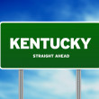Kentucky Highway Sign — Stok fotoğraf