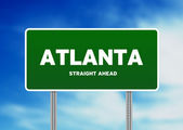 Atlanta Highway Sign — Stock Photo