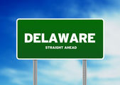 Delaware Highway Sign — Stock Photo