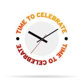 Time To Celebrate Clock — Stock Photo