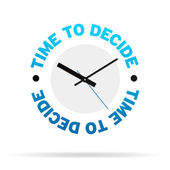 Time To Decide Clock — Stock Photo