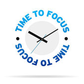 Time To Focus Clock — Stock Photo