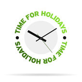Time For Holidays Clock — Stock Photo