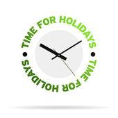 Tempo per orologio vacanze — Foto Stock