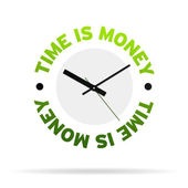Time is Money Clock — Stock Photo