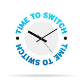 Time To Switch Clock — Stock Photo