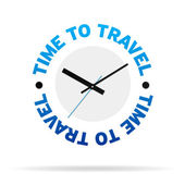 Time To Travel Clock — Stock Photo