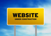 Website Under Construction Sign — Stock Photo