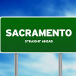 Sacramento Highway Sign — Stock Photo #6090540