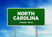 Signo de carretera de carolina del norte — Foto de Stock