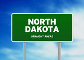 North Dakota Highway Sign — Stock Photo