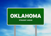 Oklahoma Highway Sign — Stock Photo