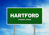 Hartford, Connecticut Highway Sign — Stock Photo