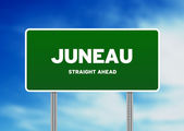 джуно, аляска шоссе знак — Стоковое фото