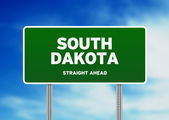 South Dakota Highway Sign — Stock Photo