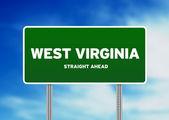 West virginia highway tecken — Stockfoto