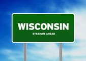 Wisconsin, USA Highway Sign — Stock Photo