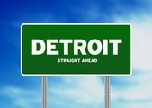 Detroit Highway Sign — Stock Photo