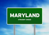 Maryland Highway Sign — Stock Photo