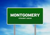 Montgomery Highway Sign — Stock Photo