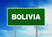 Panneau routier de Bolivie — Photo