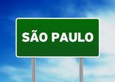 Znak autostrady sao paulo — Zdjęcie stockowe