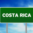 Costa Rica Highway Sign — Stock Photo