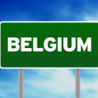 Stock Photo: Belgium Highway Sign