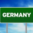 Germany Highway  Sign - Stock Photo