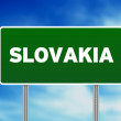 Slovakia Highway Sign - Stock Photo
