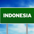 Indonesia Highway Sign - Stock Photo