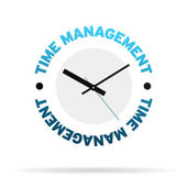 Time Management Clock — Stock Photo