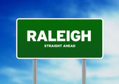 Raleigh, North Carolina Highway Sign — Stock Photo