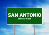 San Antonio, Texas Highway Sign — Stock Photo