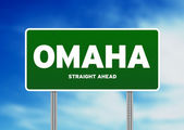 Omaha, Nebraska Highway Sign — Stock Photo