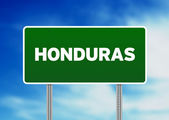 Cartello autostrada honduras — Foto Stock