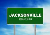джэксонвилл, флорида шоссе знак — Стоковое фото
