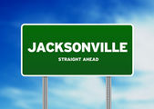 Jacksonville, florida highway teken — Stockfoto