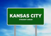 Kansas City Highway Sign — Stock Photo