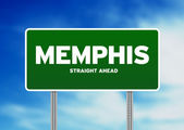 Memphis, Tennessee Highway Sign — Stock Photo