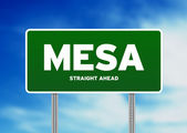 Mesa Highway Sign — Stock Photo