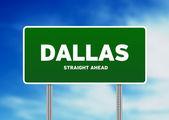 Dallas, Texas Highway Sign — Stock Photo