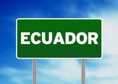 Ecuador Highway Sign — Stock Photo