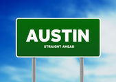 Austin, Texas Highway Sign — Stock Photo