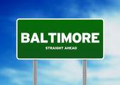 ボルチモア、メリーランド州高速道路標識 — ストック写真